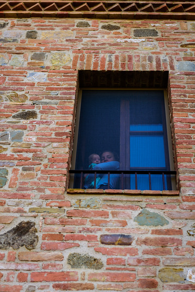 Bedroom Window at the Tuscan Farmhouse