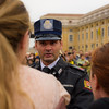 Speaking with the Pope's Guard