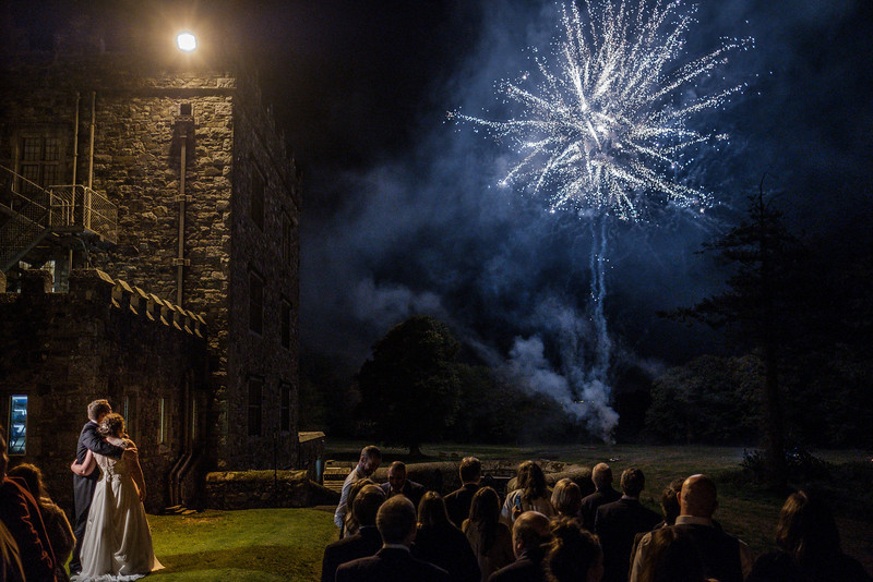 Fireworks for bride and groom