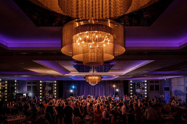 Guests filling dance floor