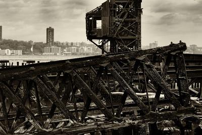 NY central railroad 69th St. transfer bridge