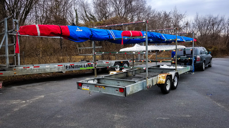 The boat trailer