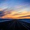 The setting sun in Wyoming