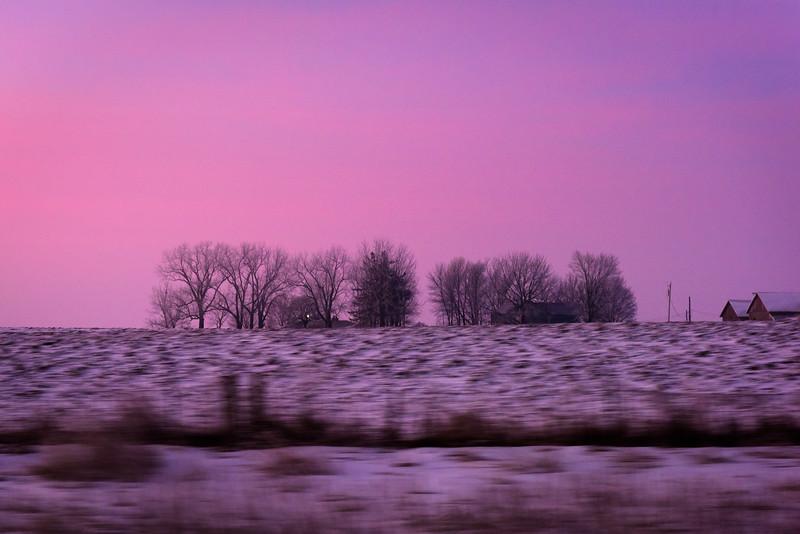 Leaving Iowa City at dawn