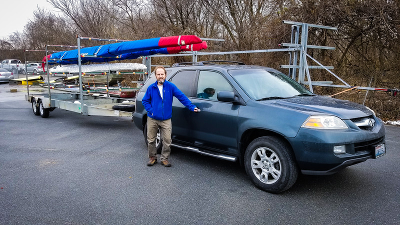 Richard and his new boats and trailer