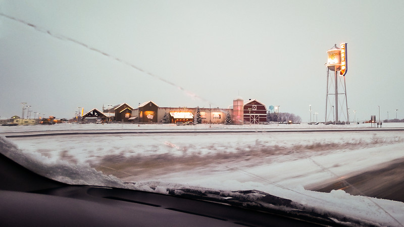 The casino next to our hotel in Northwood, Iowa