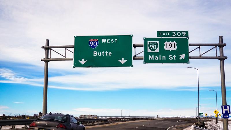 Moving West across Montana