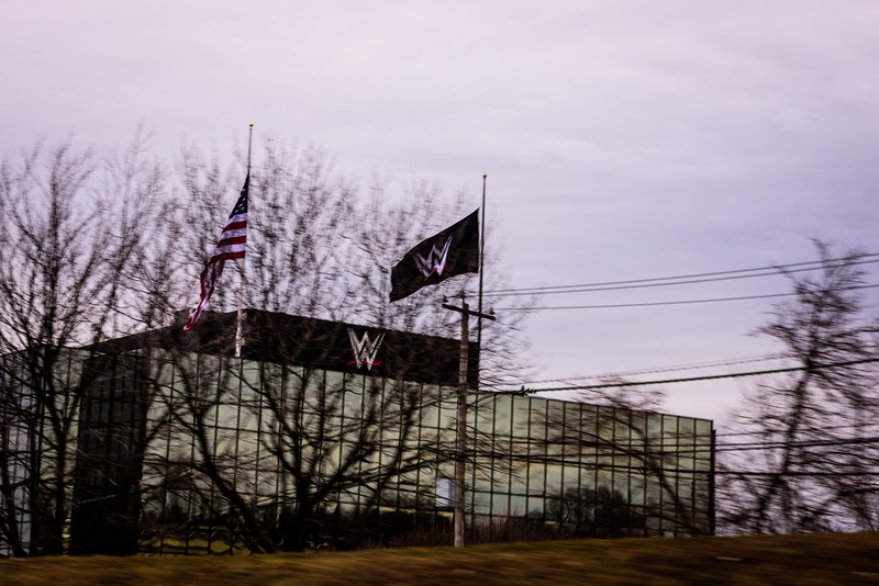 World Wrestling Entertainment headquarters in Stamford, Connecticut.  We didn't know it at the time, but this wouldn't be our only visit to Stamford.