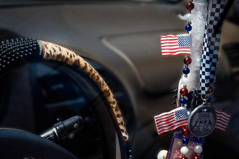 Rearview Mirror Flags