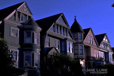 Victorians in Afternoon Sun, San Francisco