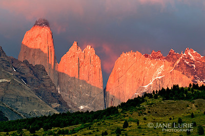 5:20 AM Sunrise at the Towers, Torres Del Paine