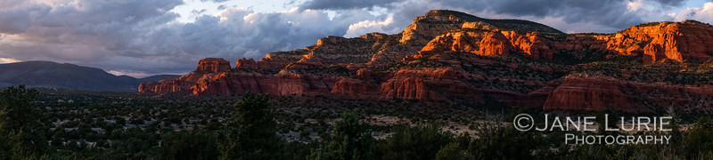 Sunset and Butte Panorama