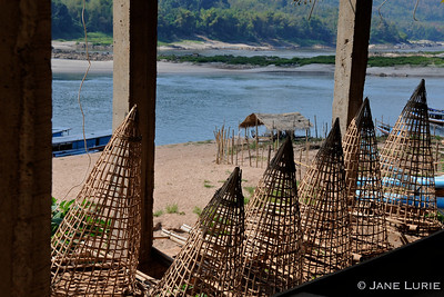 Fish Traps on the Mekong.