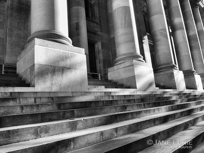 Columns and Stairs B&W, Adelaide
