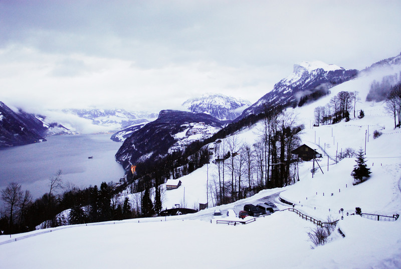High above Lake Lucerne