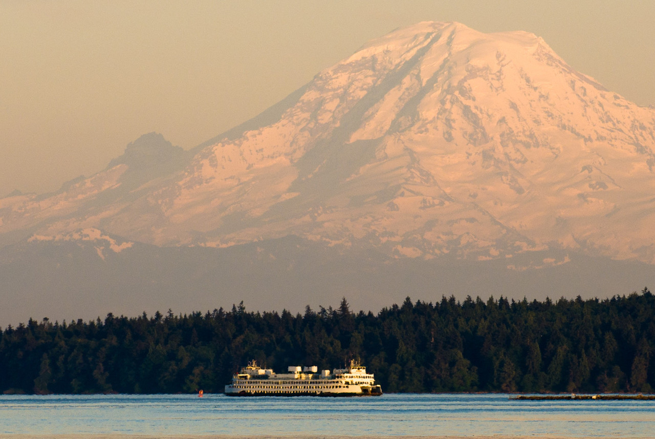 Bainbridge Ferry under Mt. Rainier
