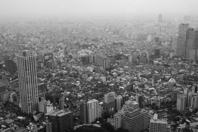 Tokyo from the top of the Metropolitan Government towers, Shinjuku