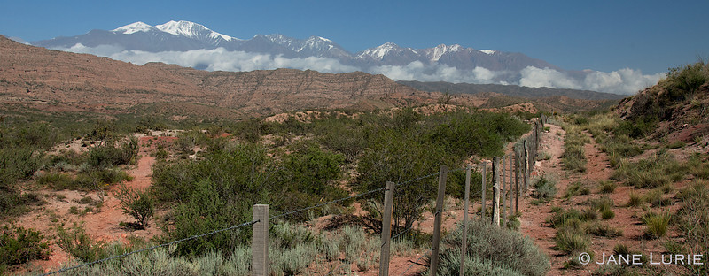 The Andes Mountains, Mendoza, Argentina.