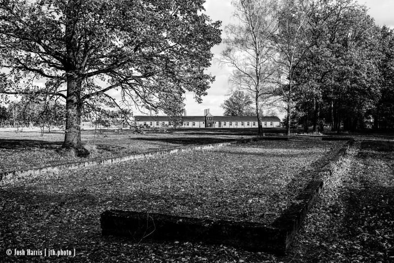 Barracks for Undressing, Main Camp Bathhouse, Auschwitz II-Birkenau, Poland, October 2018.