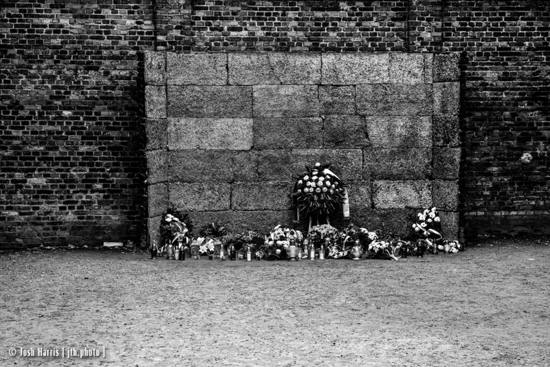 """Death Wall,"" Auschwitz,  Poland, October 2018."