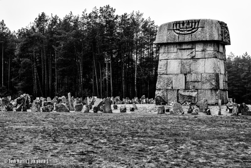 Monument on Location of Original Gas Chambers, Treblinka Extermination Camp, Poland, October 2018.