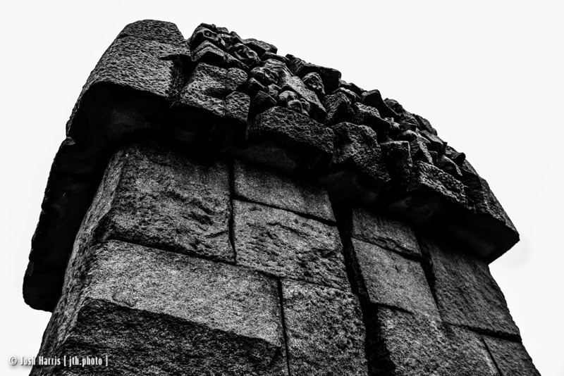Monument on Location of Original Gas Chambers, Treblinka Extermination Camp, Poland, October 2018.
