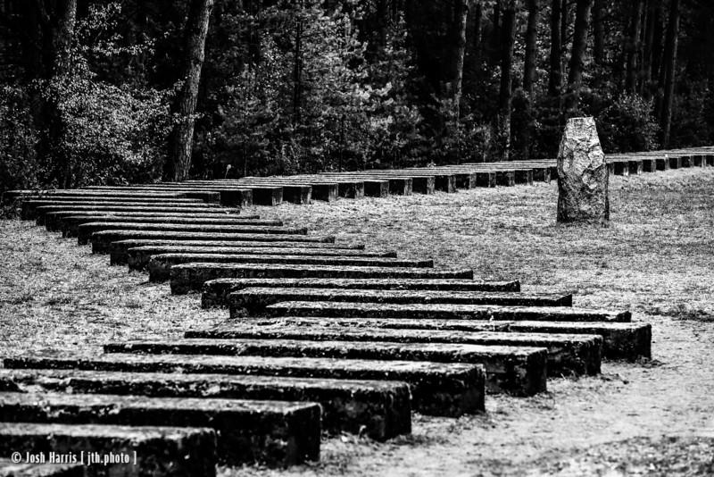 Tracks Commemorating Original Rail Line, Treblinka Extermination Camp, Poland, October 2018.
