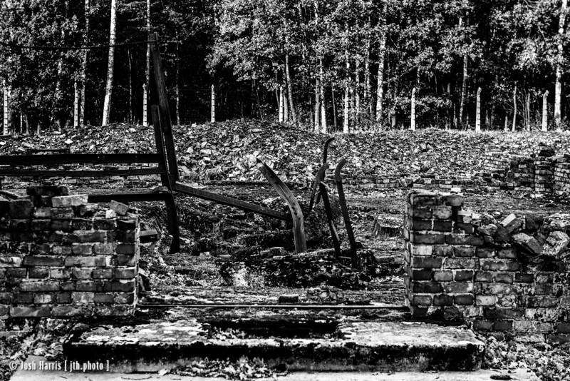 Crematorium V, Auschwitz II-Birkenau, Poland, October 2018.