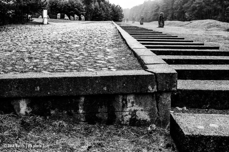 Representation of Unloading Platform, Treblinka Extermination Camp, Poland, October 2018.