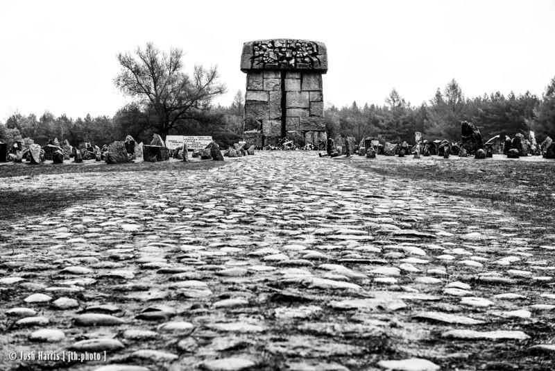 "Himmelstraße (Road to Heaven), ""The Tube,"" Treblinka Extermination Camp, Poland, October 2018."