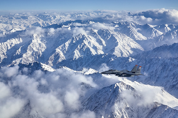 Flying over the mountains north of Kabul, Afghanistan.