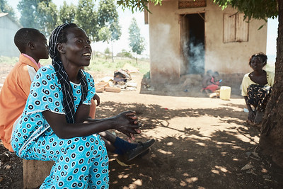 Mamma Emma was relocated to this small one-room home with her five kids, a step up from her prior living situation.  She used to sell vegetables from her small garden until a factory went up across the street, and now her farm doesn't produce.  She now breaks rocks at a nearby quarry and wants nothing more than to be able to send her kids to school.  Two of them are in X-SUBA's Learning Center hoping to get a sponsorship, one of them is currently sponsored, and she's struggling to pay tuition for the fourth.  She loves it when her kids come home and share what they learned, and is grateful for the opportunity X-SUBA can provide in the interim.