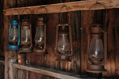 Lamps in the firehouse.  Interesting, considering that the majority of the town has burned down thanks to accidents with oil lamps like this.  One of them is not like the others.