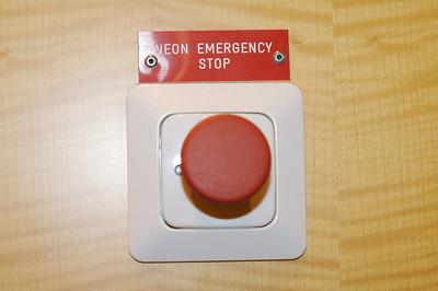 NEON EMERGENCY STOP