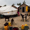 Shelters in Surkh Rod, Nangarhar, provided by NRC for the Khan family, who returned to Afghanistan recently from Pakistan after harassment from the authorities.<br /> <br /> Nangarhar, February 2017<br /> <br /> NRC/Jim Huylebroek