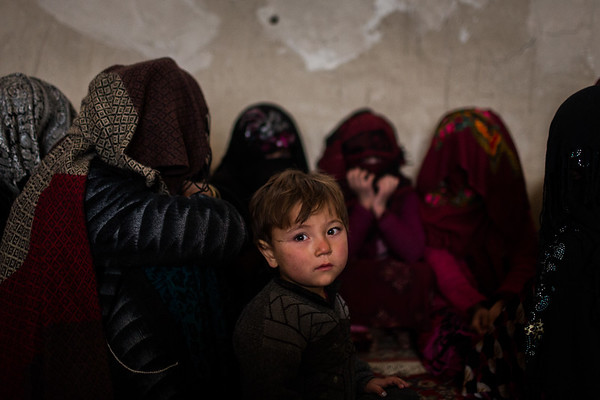 Aminullah, three, and his family had to flee their home in Jelgelda, Faryab, after heavy fighting broke out. They now live in a small room on the outskirts of the provincial capital Maimana in northern Afghanistan. NRC has since provided assistance.<br /> <br /> Faryab, January 2017<br /> <br /> NRC/Jim Huylebroek