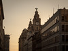 Sunset over Royal Liver Building, Liverpool.