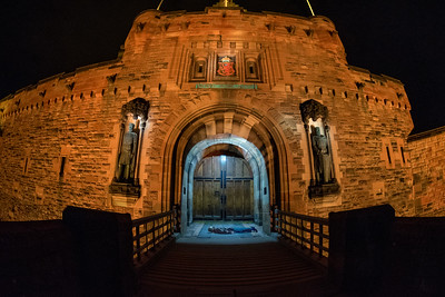 Edinburgh Castle Face Down