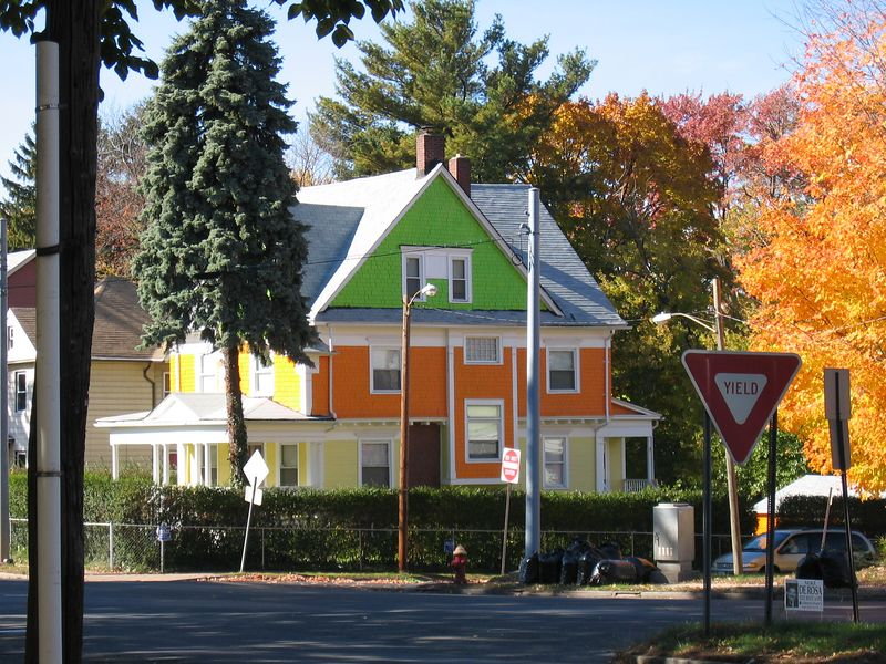 Green,Orange,Yellow House, Hartford, CT
