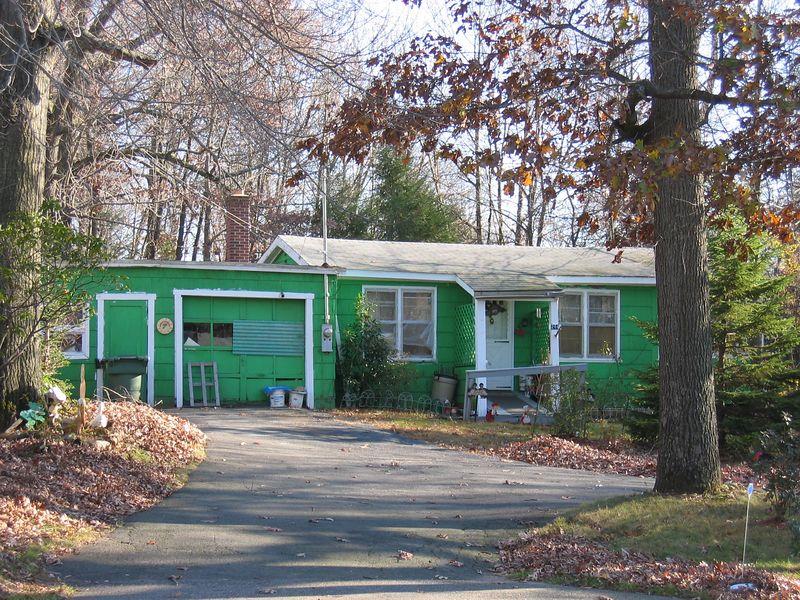 Bright Green House, East Hampton, CT