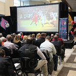 A video presentation of the 2014 University of Louisville football season was shown prior to the start of the event.