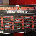 Louisville Football National Signing Day board.