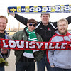 Louisville Fans and The Coopers Members Andrew Evans, Harald Uwe Kern, Derrick Mills and Brian McGill.