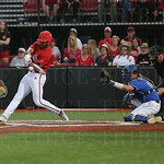 On this pitch U of L\'s Corey Ray homered to center and drove in 2 runs in the bottom of the 7th inning. At the end of the 7th inning the score was UK 5 and U of L 4.