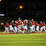 The Cards celebrated their 7-6 victory over UK.