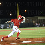 The Card\'s Colin Lyman rounded third and was headed home following a single by Devin Hairston in the bottom of 9th inning with the score tied at 6.
