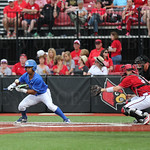 UK\'s Marcus Carson bunted down the 3rd baseline in the  top of the 7th inning. Carson beat out the throw to first and ended up scoring UK\'s third run of the inning. After 6 & 1/2 innings the score was UK 5 and U of L 1.