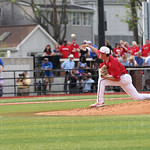 Kade McClure released a pitch in the top of the first inning.