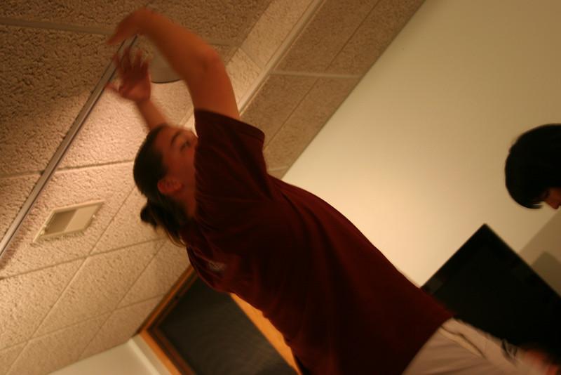 Jill teaching ballet.
