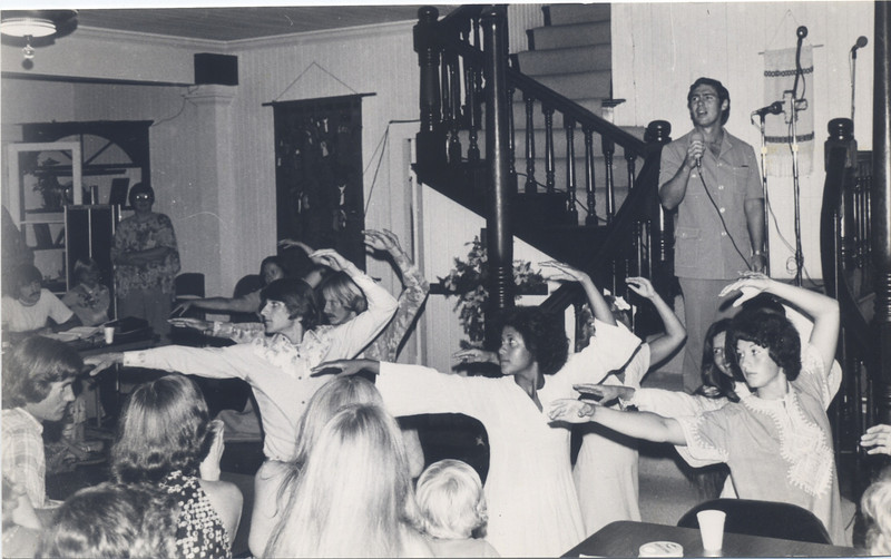 "Dance Team with Dale Kauffman at Love Feast Kings Mansion-June 1977 ""Open my eyes,Lord   jpeg"